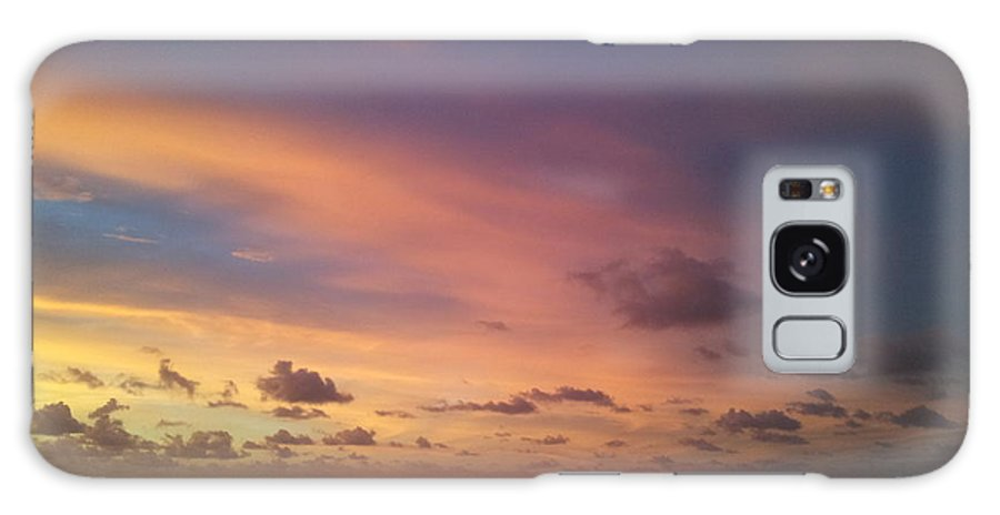 Sunrise Beach Gulf Of Mexico Morning View Clouds Galaxy S8 Case featuring the photograph Morning Breaks. by Ray Valverde
