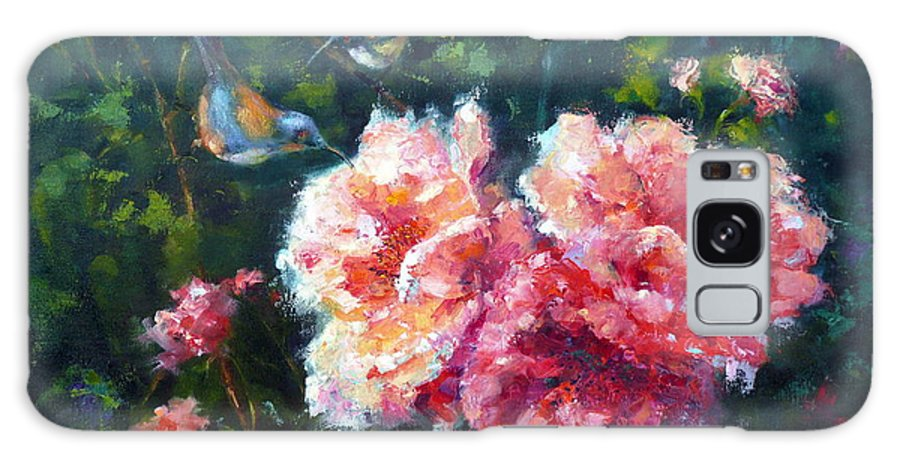 Roses Galaxy S8 Case featuring the painting Morning Duet by Marie Green