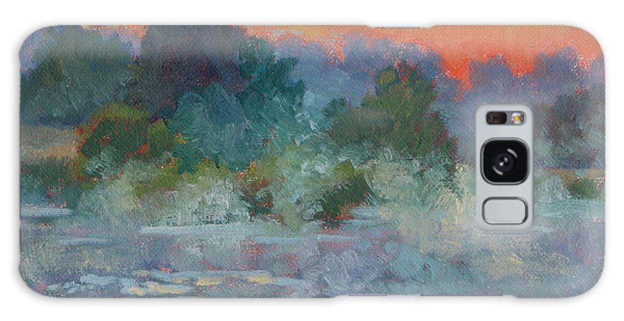 Impressionism Galaxy S8 Case featuring the painting Morning Fog by Keith Burgess