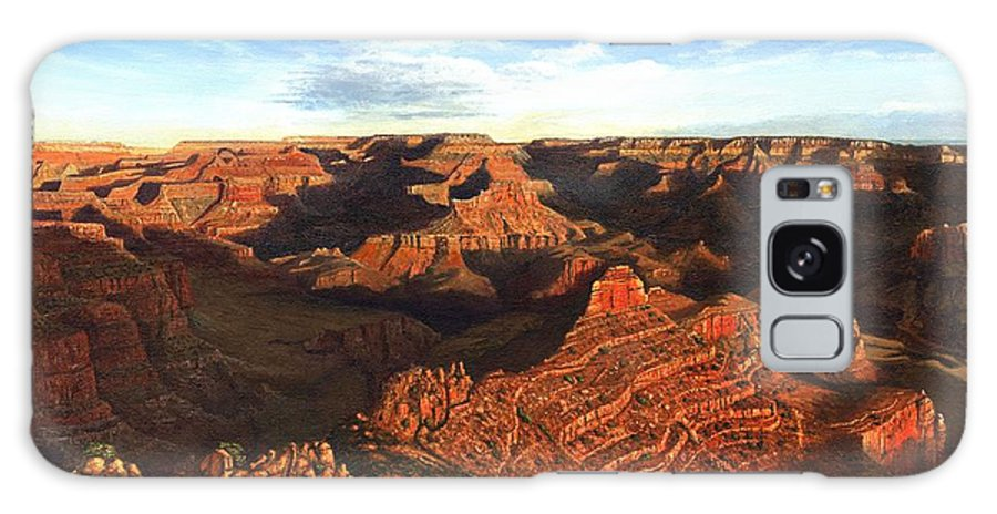 Grand Canyon Galaxy S8 Case featuring the painting Morning Glory - The Grand Canyon From Kaibab Trail by Richard Harpum
