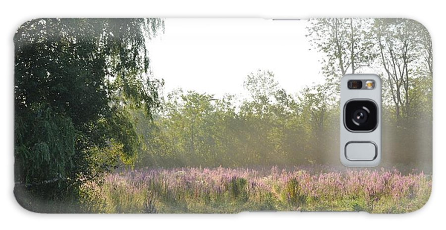 Mist Galaxy S8 Case featuring the photograph Morning Mist In The Pasture by Valerie Kirkwood