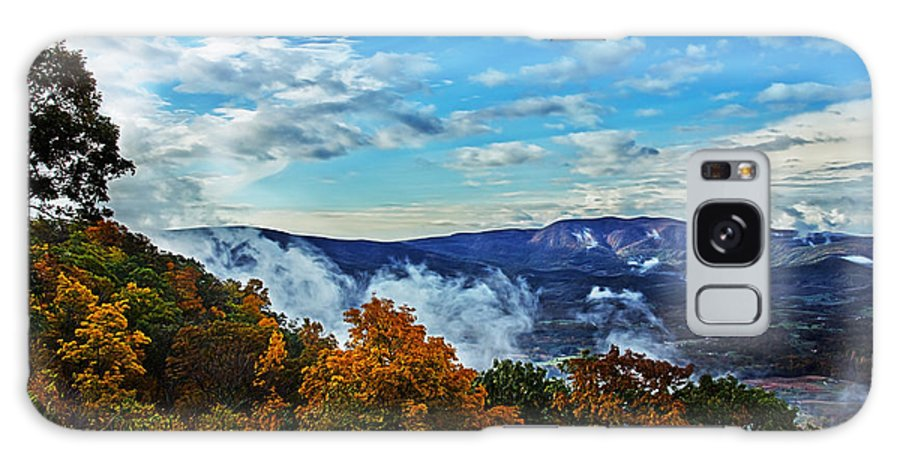 Nature Galaxy S8 Case featuring the photograph Morning Mist On An Autumn Morning by Tom Gari Gallery-Three-Photography