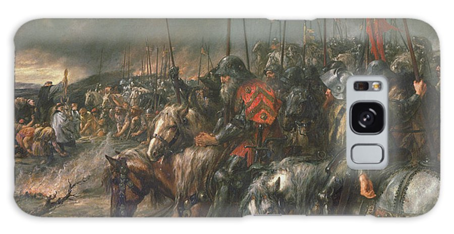 Hundred Years War Galaxy S8 Case featuring the photograph Morning Of The Battle Of Agincourt, 25th October 1415, 1884 Oil On Canvas by Sir John Gilbert
