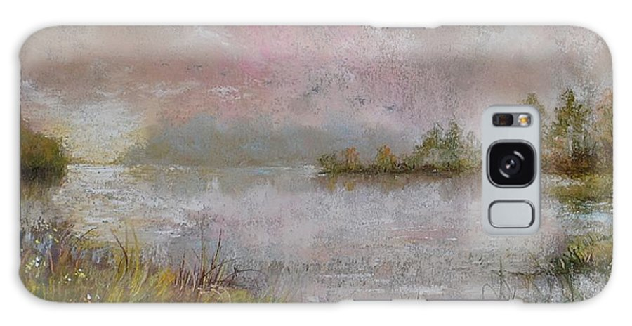 Morning Galaxy S8 Case featuring the painting Morning On The Lake by Zbynek Jablonecky