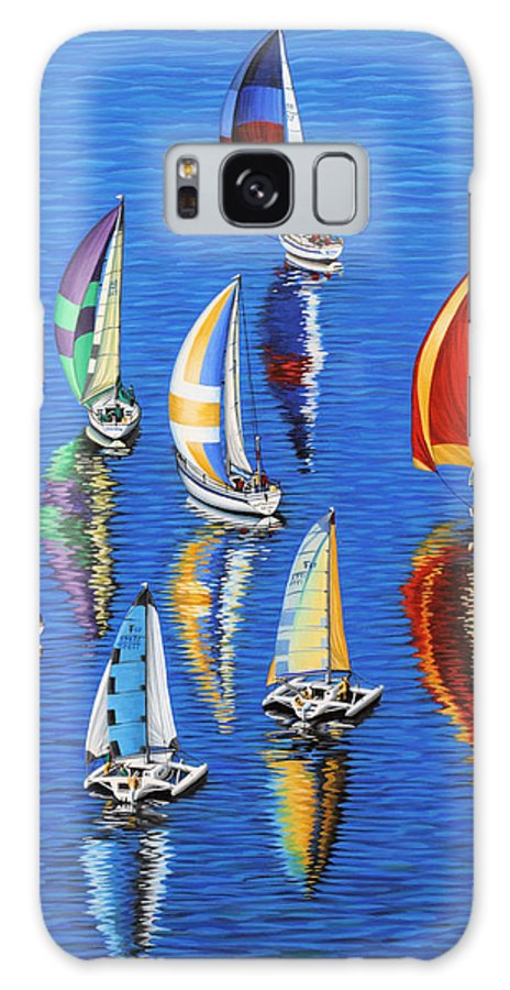 Ocean Galaxy Case featuring the painting Morning Reflections by Jane Girardot
