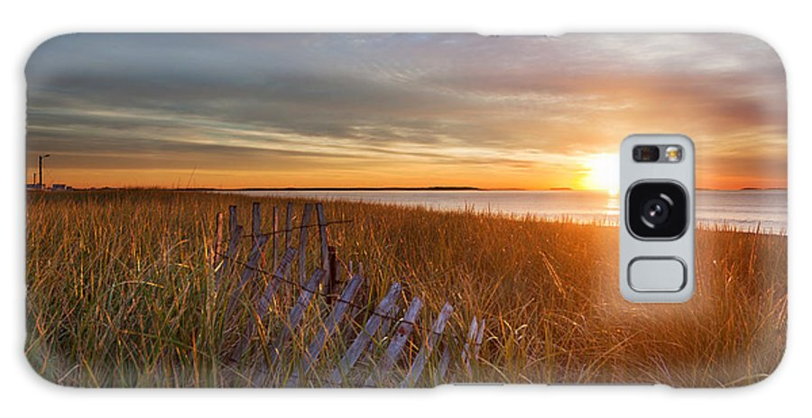 Sand Dune Galaxy S8 Case featuring the photograph Morning Sun On The Dune Grasses by Jo Ann Snover