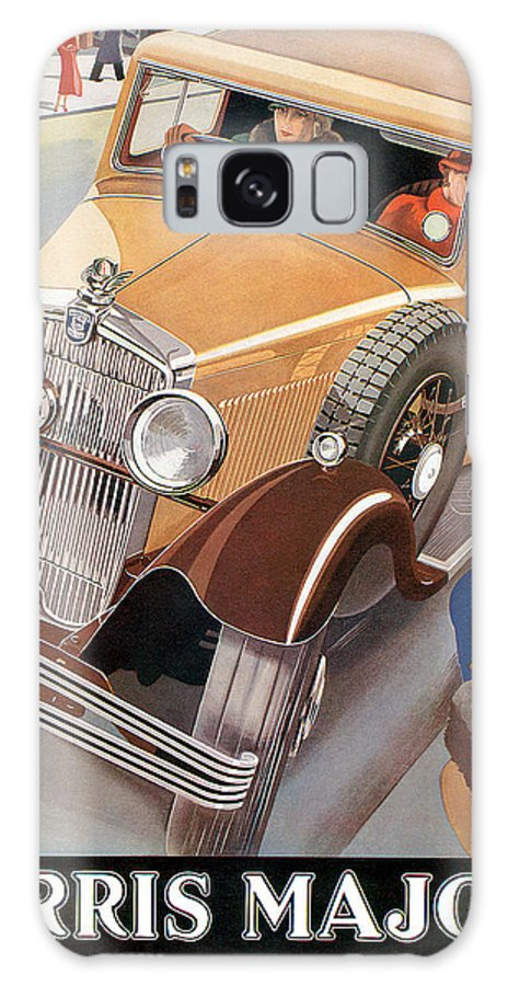 Advertisement Galaxy S8 Case featuring the drawing Morris Major 6 - Vintage Car Poster by World Art Prints And Designs