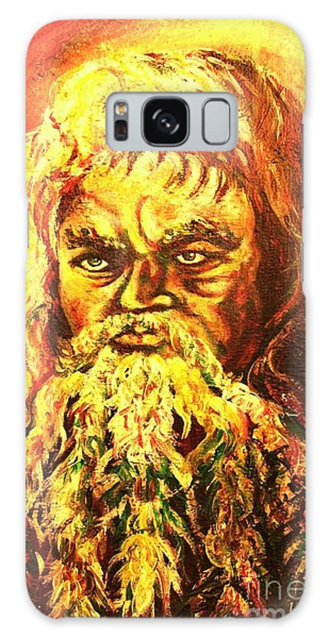 Moses Galaxy S8 Case featuring the painting Moses At The Burning Bush by Carole Spandau