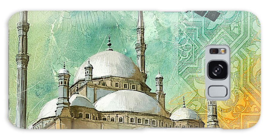 Alabaster Mosque Galaxy S8 Case featuring the painting Mosque Of Muhammad Ali by Corporate Art Task Force