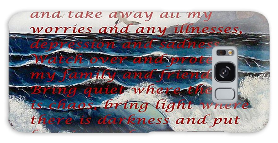 Most Powerful Prayer With Ocean Waves Galaxy S8 Case featuring the mixed media Most Powerful Prayer With Ocean Waves by Barbara Griffin