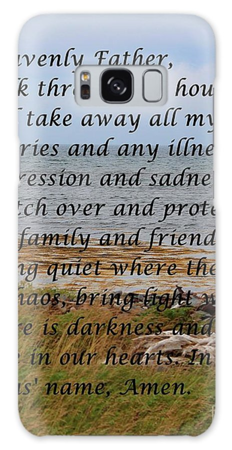 Most Powerful Prayer With Seashore Galaxy S8 Case featuring the digital art Most Powerful Prayer With Seashore by Barbara Griffin
