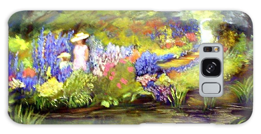 Flower Garden Galaxy S8 Case featuring the painting Mother And Daughter by Gail Kirtz