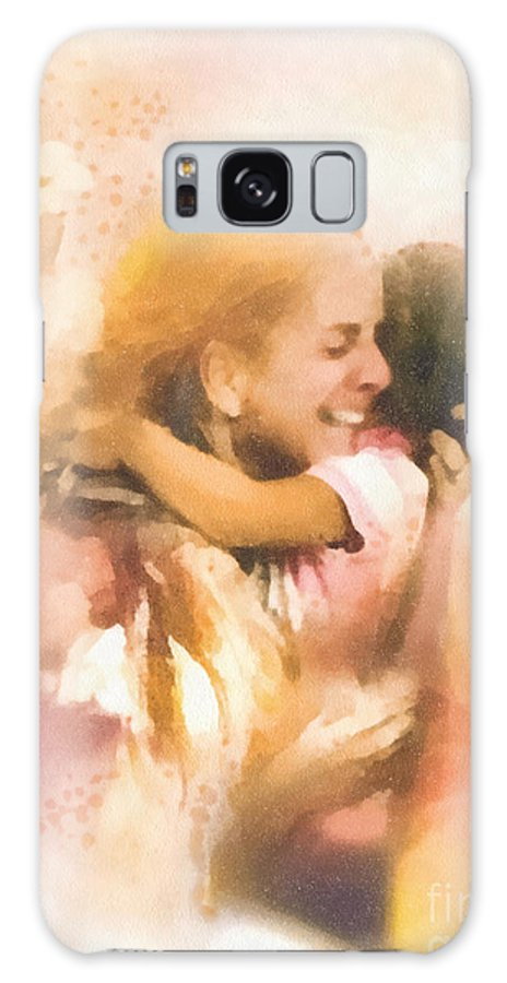 Mother's Arms Galaxy S8 Case featuring the painting Mother's Arms by Mo T