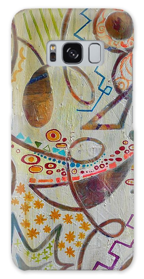 Abstract Of Mom's Love And Happiness Imagination Galaxy S8 Case featuring the painting Mother's Room by Kristin Kim