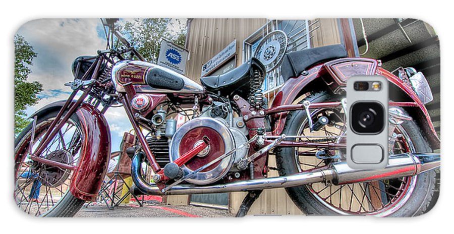 Motorcycle Galaxy S8 Case featuring the photograph Moto Guzzi Classic by Britt Runyon