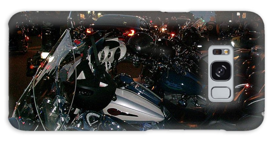 Motorcycle Galaxy S8 Case featuring the photograph Motorcycles At Americade Lined Up by Gail Matthews