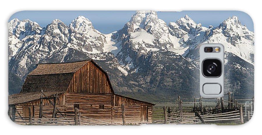 Grand Teton Galaxy S8 Case featuring the photograph Moulton Barn - Grand Tetons I by Sandra Bronstein