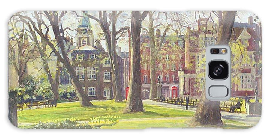 Garden Galaxy S8 Case featuring the photograph Mount Street Gardens, London Oil On Canvas by Julian Barrow