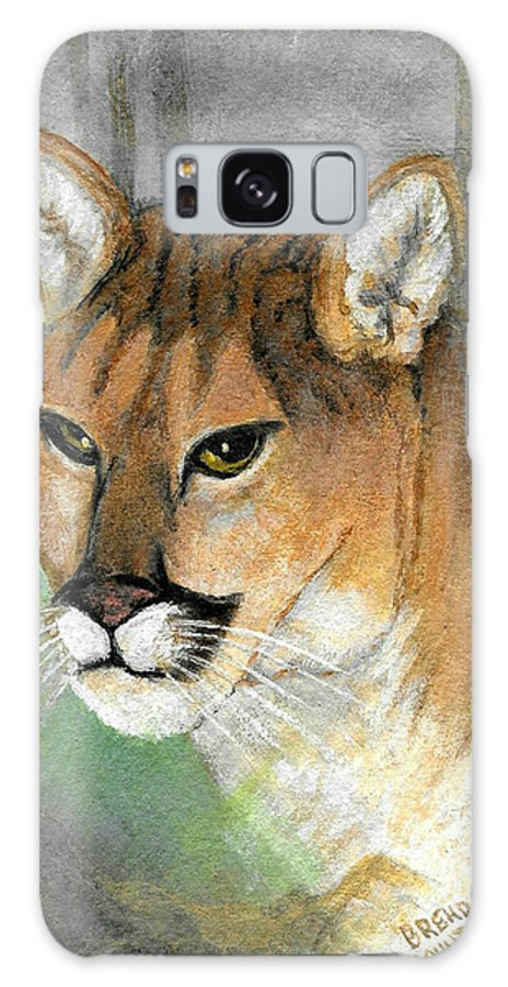 Cat Galaxy S8 Case featuring the painting Mountain Blend by Brenda L Baker