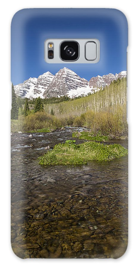 Maroon Galaxy S8 Case featuring the photograph Mountain Co Maroon Bells 20 by John Brueske