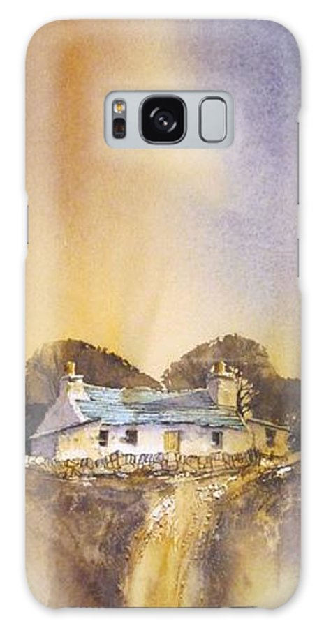 Ireland Galaxy S8 Case featuring the painting Mountain Farm by Roland Byrne