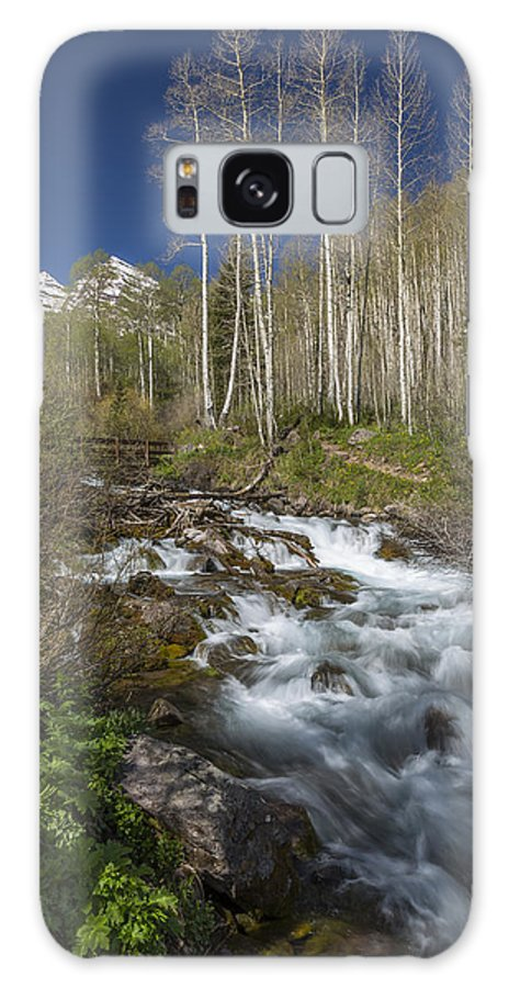Maroon Galaxy S8 Case featuring the photograph Mountains Co Maroon Creek 4 by John Brueske