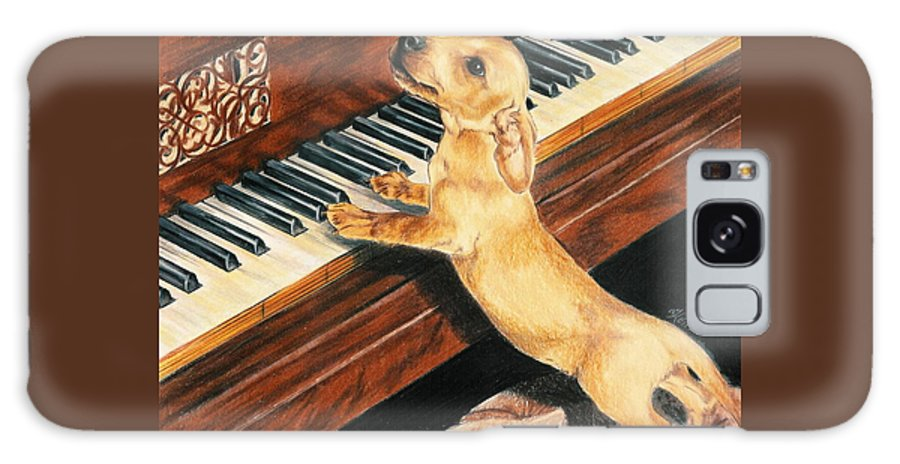 Purebred Dog Galaxy S8 Case featuring the drawing Mozart's Apprentice by Barbara Keith
