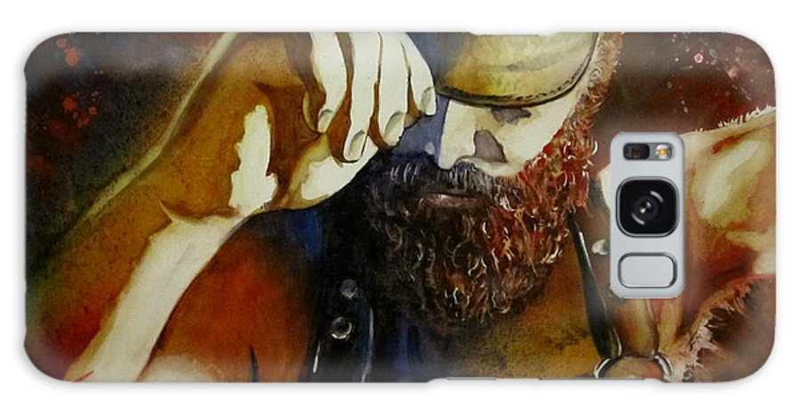 Gay Art Galaxy S8 Case featuring the painting Mr. Leather-personnality by Michel Jutras
