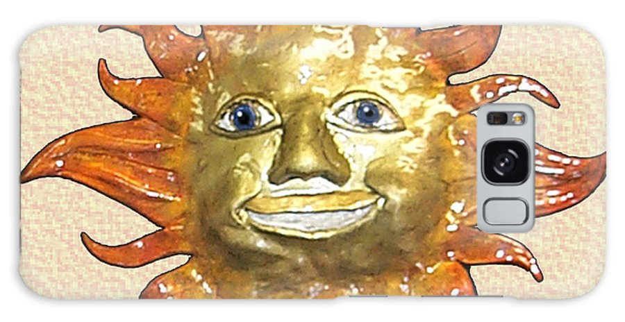 Sun Galaxy S8 Case featuring the mixed media Mr. Sun by Craig Nelson