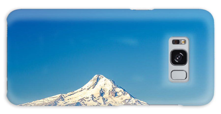 Mountain Galaxy S8 Case featuring the photograph Mt. Hood And Blue Sky by Jess Kraft