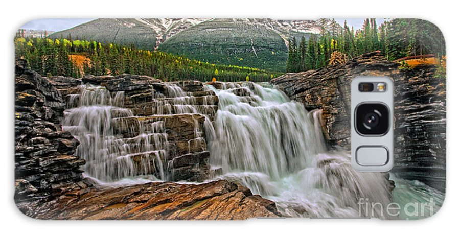 Mountain Galaxy S8 Case featuring the photograph Mt. Kerkeslin Athabasca Falls by Rick Mousseau