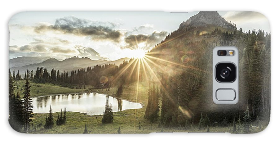 Scenics Galaxy Case featuring the photograph Mt.rainier In Sunset by Chinaface