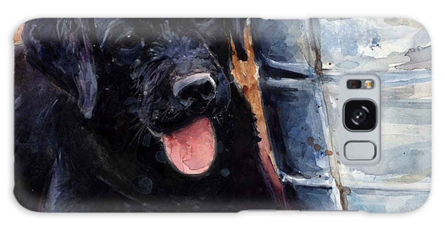 Labrador Retriever Galaxy S8 Case featuring the painting Mud Pies by Molly Poole