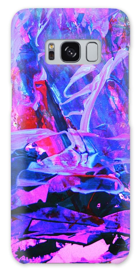 Abstract Galaxy Case featuring the painting Muggeled by Bruce Combs - REACH BEYOND