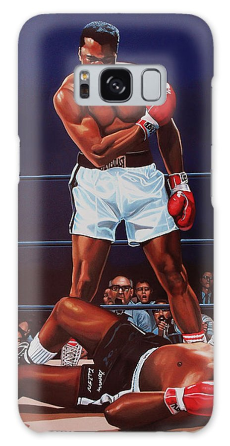 Mohammed Ali Versus Sonny Liston Galaxy S8 Case featuring the painting Muhammad Ali Versus Sonny Liston by Paul Meijering