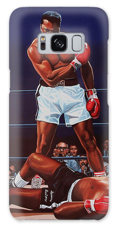 Mohammed Ali Versus Sonny Liston Galaxy Case featuring the painting Muhammad Ali versus Sonny Liston by Paul Meijering