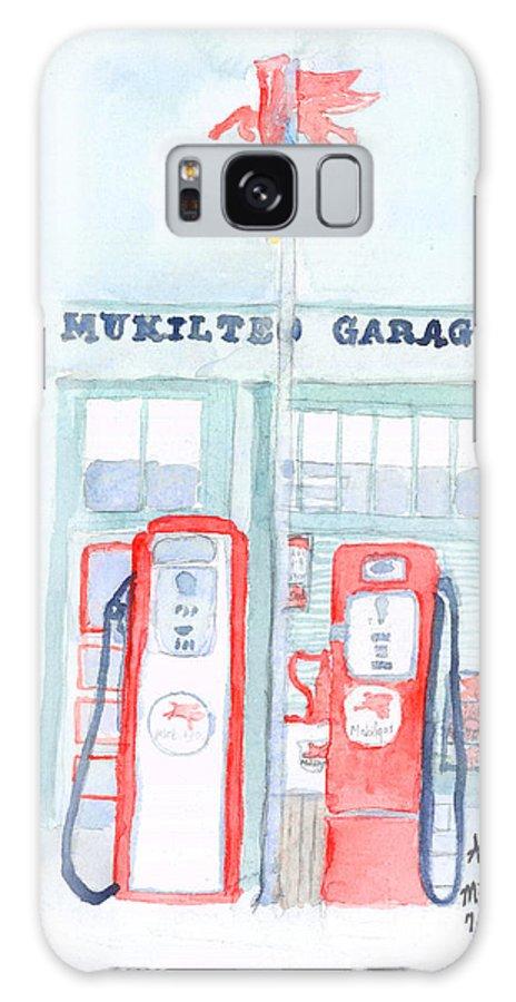 Mukilteo Galaxy S8 Case featuring the painting Mukilteo Garage by Ann Michelle Swadener