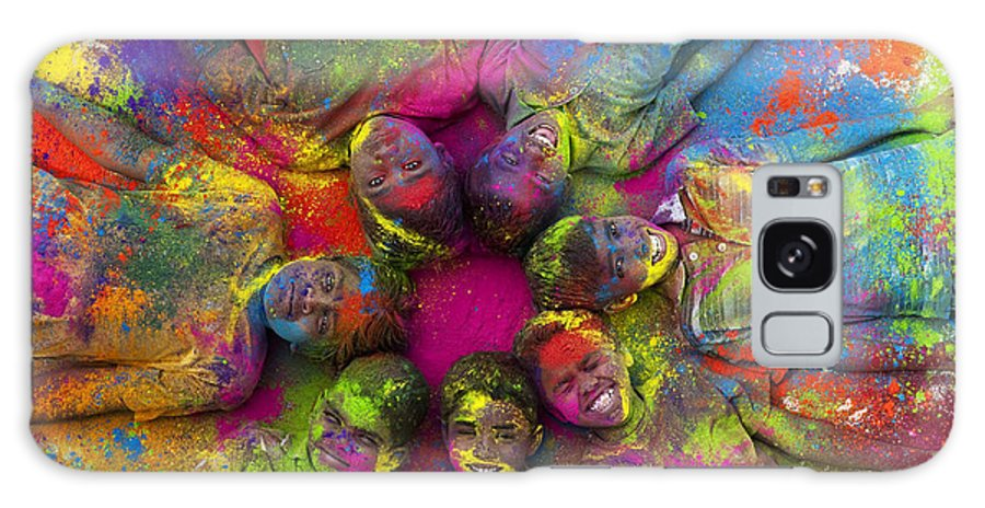 Indian Boys Galaxy Case featuring the photograph Multicoloured Boys by Tim Gainey