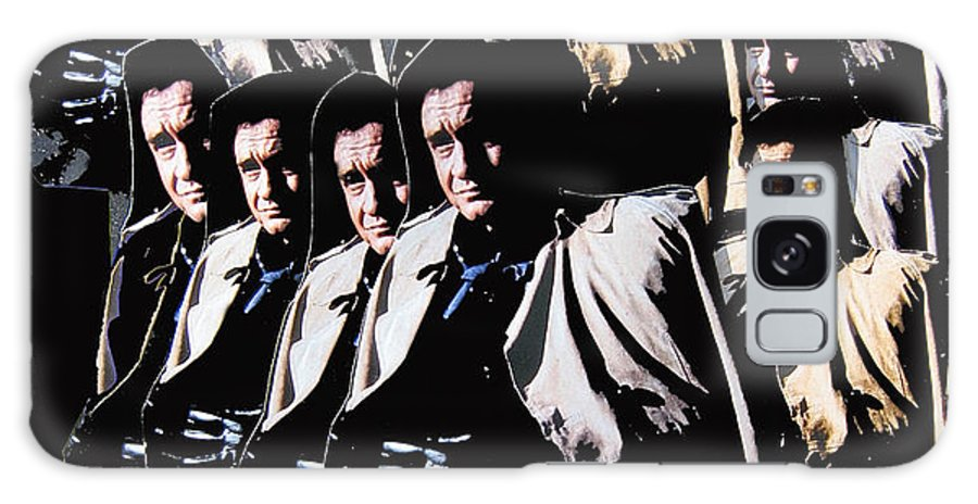 Multiple Johnny Cash In Trench Coat Collage Old Tucson Arizona Surrealism Color Added Galaxy S8 Case featuring the photograph Multiple Johnny Cash In Trench Coat 1 by David Lee Guss