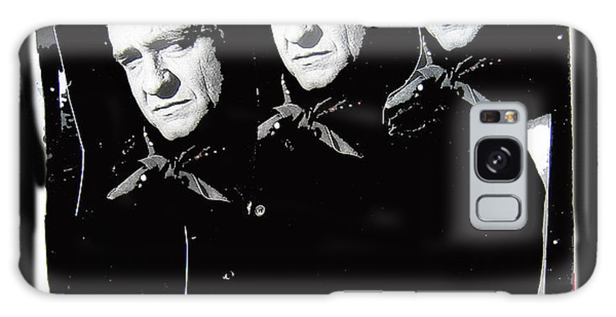Multiple Johnny Cash Sitting Collage Surrealism Old Tucson Arizona Galaxy S8 Case featuring the photograph Multiple Johnny Cash Sitting Old Tucson Arizona 1971-2008 by David Lee Guss