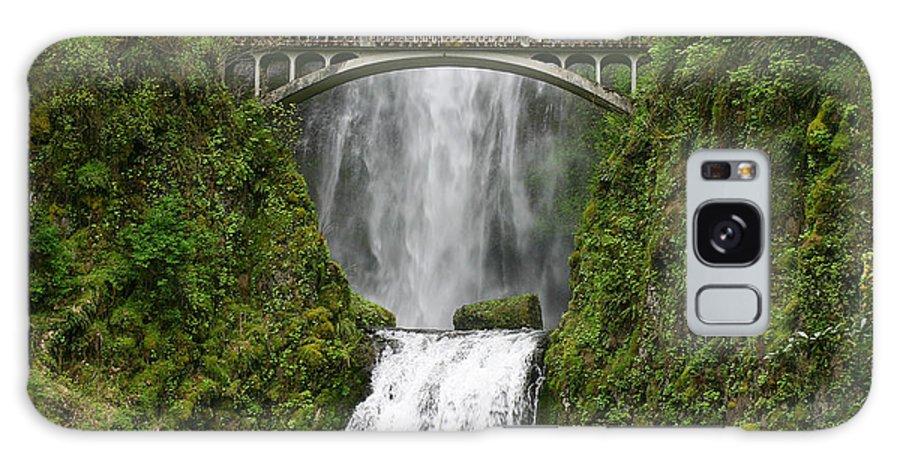 Photo Galaxy S8 Case featuring the photograph Multnomah Falls Bridge by Monica Veraguth