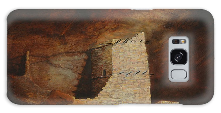 Anasazi Galaxy S8 Case featuring the painting Mummy Cave by Jerry McElroy