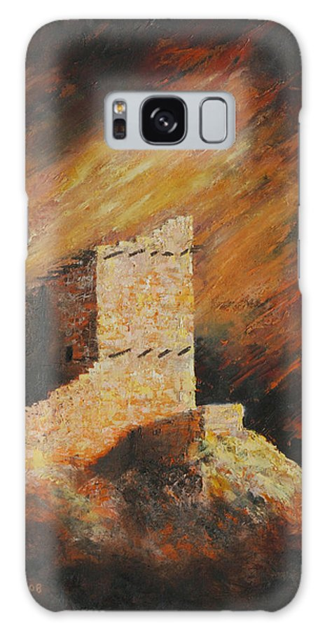 Anasazi Galaxy Case featuring the painting Mummy Cave Ruins 2 by Jerry McElroy