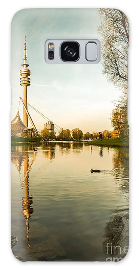 Architecture Galaxy S8 Case featuring the photograph Munich - Olympiapark - Vintage by Hannes Cmarits