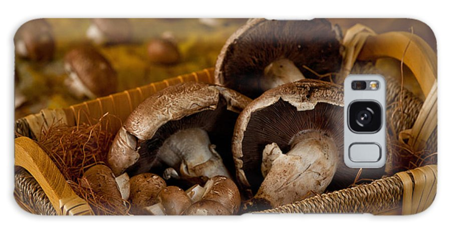 Galaxy S8 Case featuring the photograph Mushrooms In A Basket by Matthew Pace