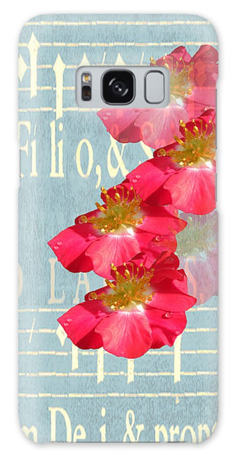 Wild Roses Galaxy S8 Case featuring the digital art Music And Roses by Rosalie Scanlon