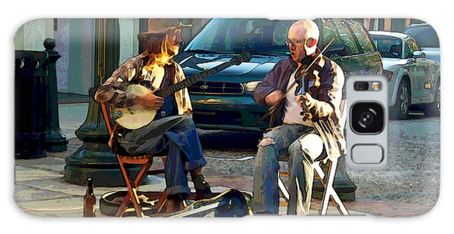 Street Musicians Galaxy Case featuring the photograph Music In The Air by Suzanne Gaff