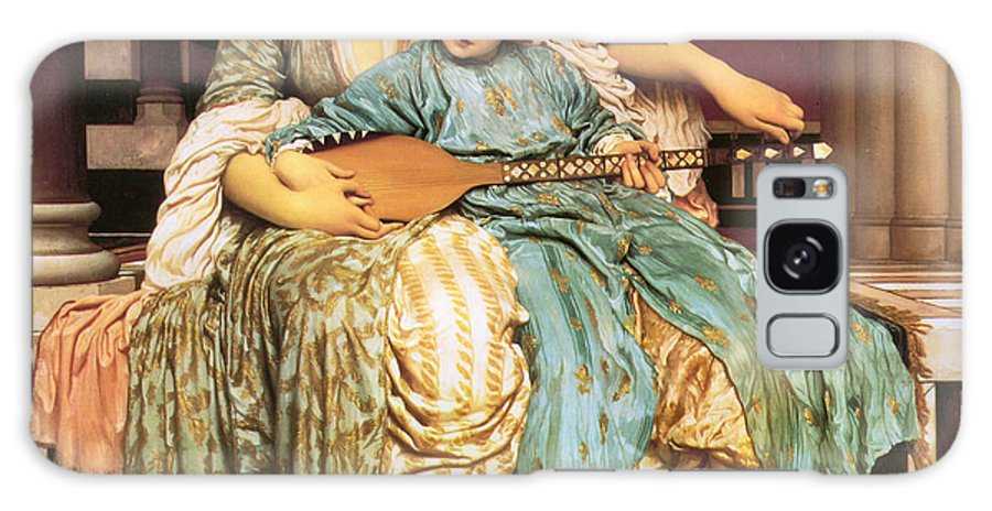 Music Lesson Galaxy S8 Case featuring the digital art Music Lesson by Lord Frederick Leighton