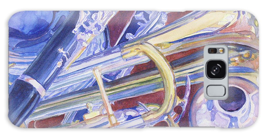 Trumpet Galaxy S8 Case featuring the painting Musical Reflections by Jenny Armitage