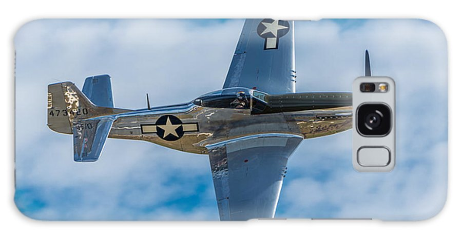 Aircraft Galaxy S8 Case featuring the photograph Mustang Making A Pass by Mike Watts